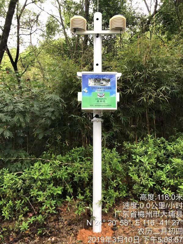 广西森林生态公园空气含氧量在线监测系统