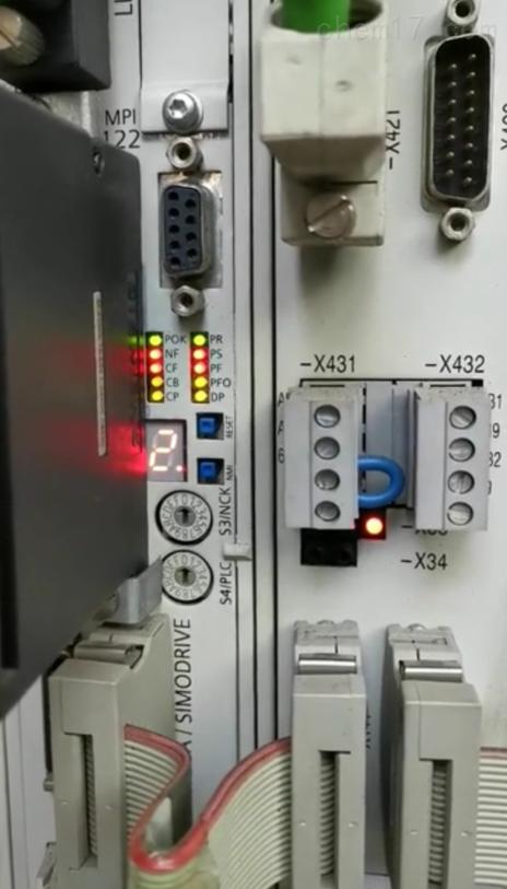 西门子NCU上电数字走2指示灯全闪当天修好