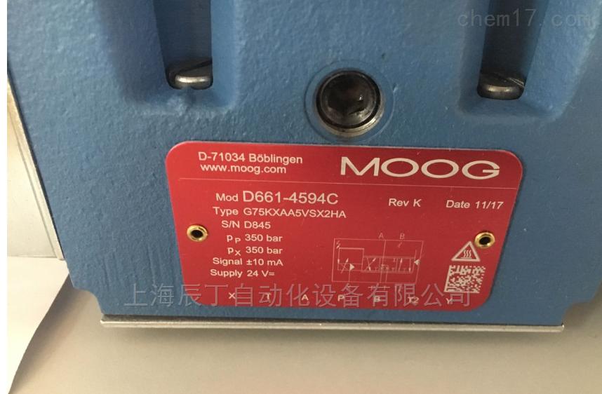美国MOOG穆格伺服阀D661-4651原厂现货销售