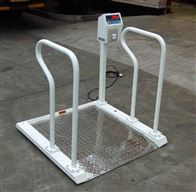 河北醫用透析電子秤,花紋鋼輪椅稱