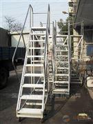 企石鋼制登高貨梯,防滑踏板登高梯