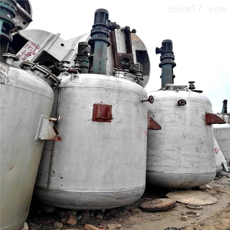 直销容量5000升5吨二手不锈钢反应釜 内盘管