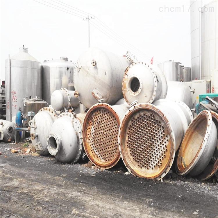 广州八成新250平方列管式二手不锈钢冷凝器