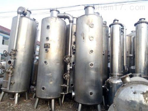 大量回收乳品厂三效真空浓缩蒸发器回收价格