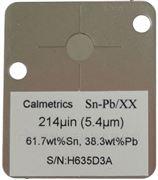 單鍍層合金膜厚標準片