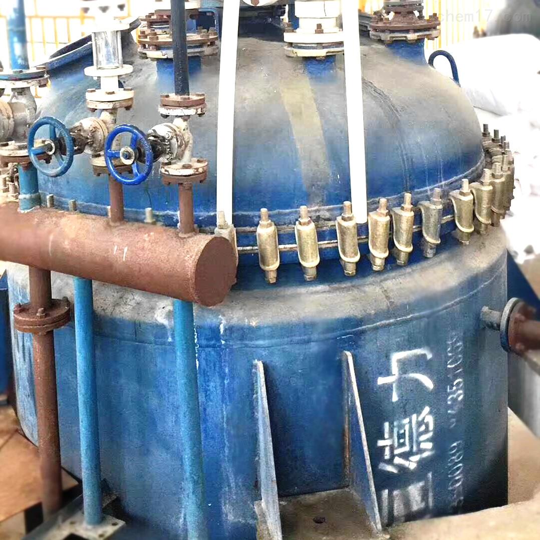 南阳低价出售6吨6立方二手搪瓷反应釜