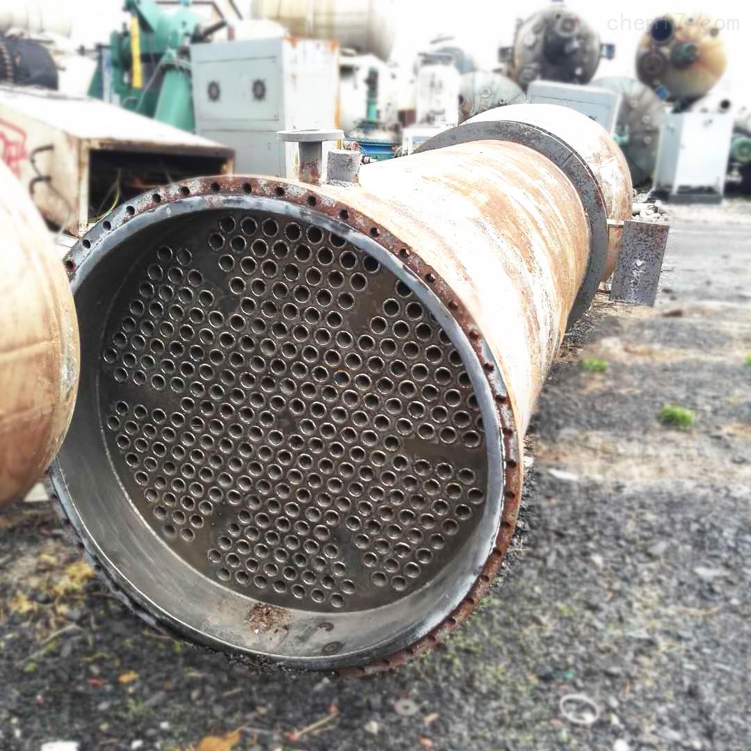 200平方二手列管式钛材质冷凝器清理方式