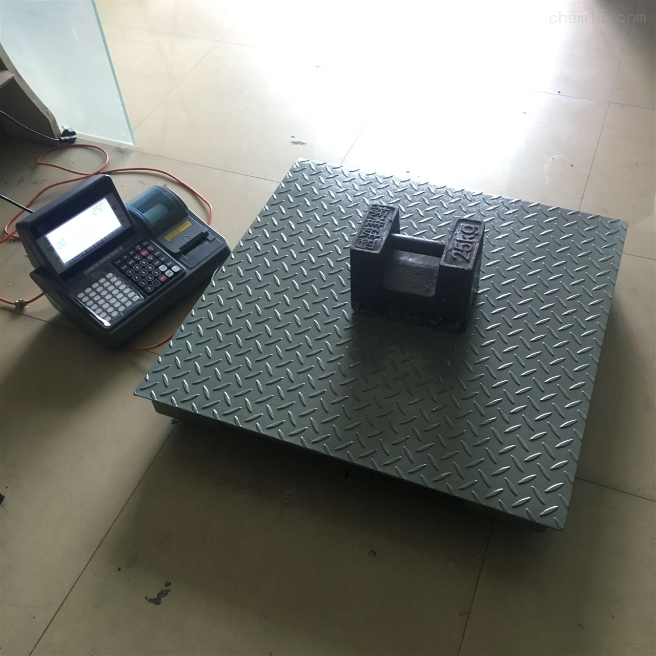 不干胶地磅秤5吨物料标签打印电子秤