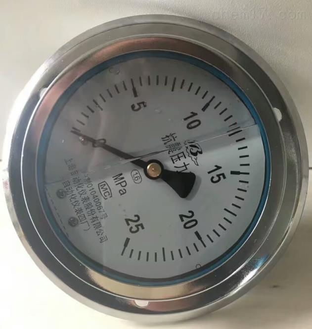 YN-100不锈钢压力表上海自动化仪表厂