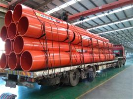 聚乙烯钢带波纹管 耐磨钢带螺旋管道