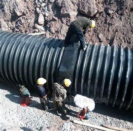 HDPE钢带波纹管 耐磨钢带螺旋管道