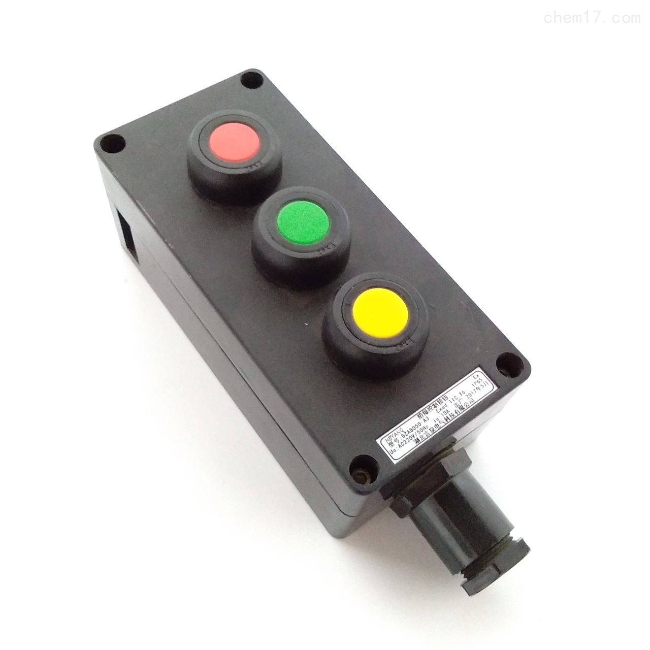 BZA8060-A3粉尘车间壁挂防爆按钮盒