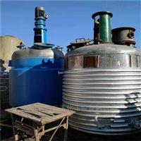 低价转让二手3吨外盘管反应釜全套处理