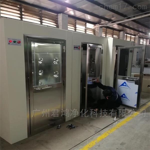 湖南湘潭双通道风淋室非标订制 全不锈钢款