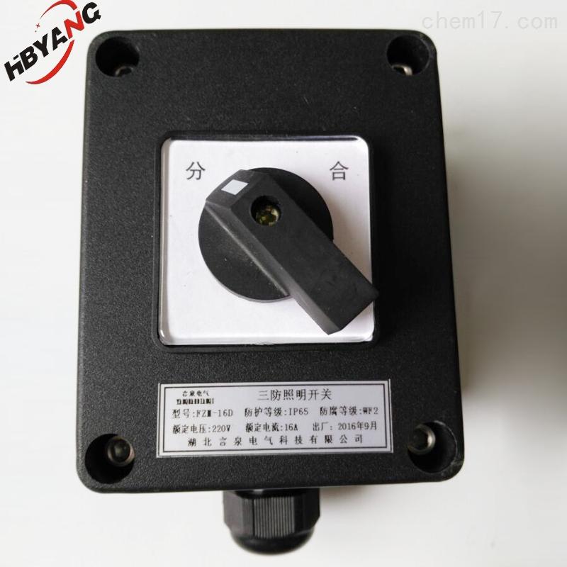 BZM8060电动机户外防水旋钮开关盒
