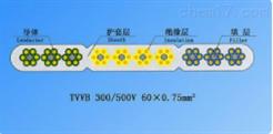 TVVB扁行绞合型排列带屏蔽电梯电缆