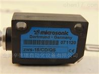 ZWS-15/CD/QS德国microsonic威声超声波传感器矩形