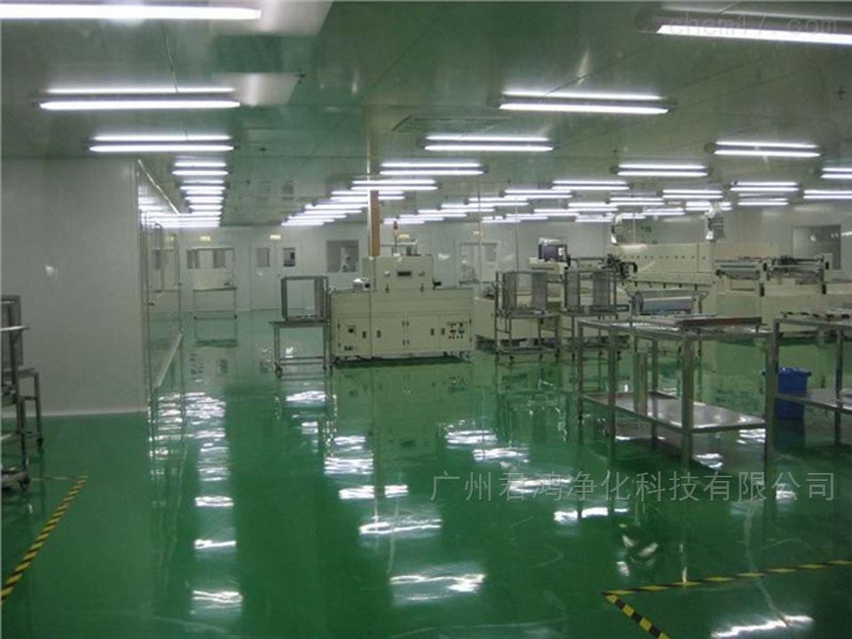番禺电子厂车间净化工程进口环氧地坪漆