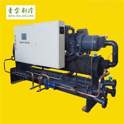 QX-200WS出口基礎設施攪拌站水冷式螺桿冷水機廠家