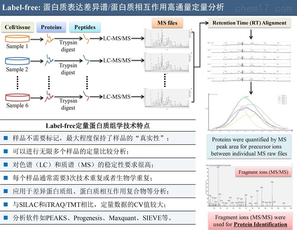 Label-free-定量蛋白质组学分析服务