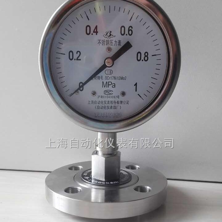 Y-100A /Z/MF(B)/316L不锈钢隔膜压力表