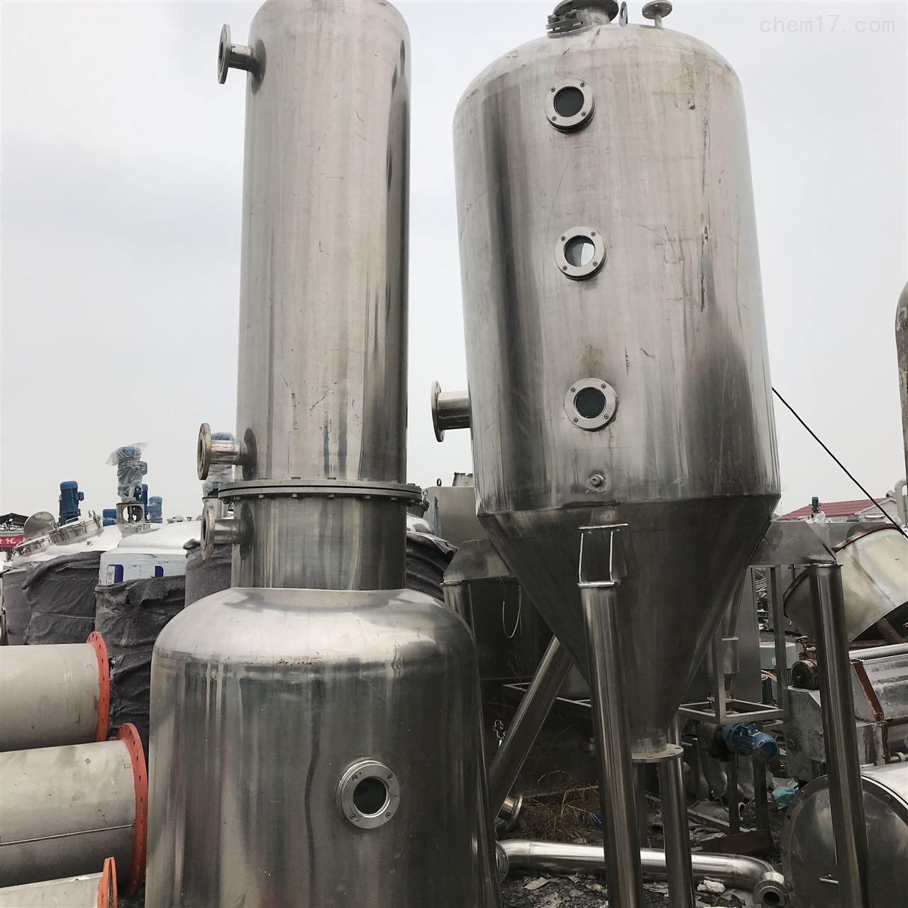 转让闲置二手降膜蒸发器、不锈钢列管冷凝器