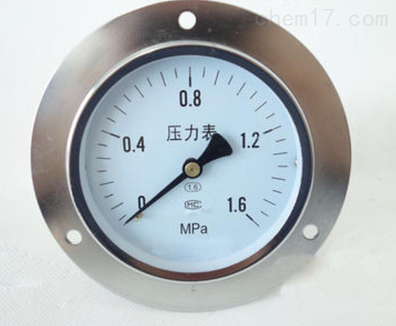 Y-103T轴向带边压力表0-0.1Mpa