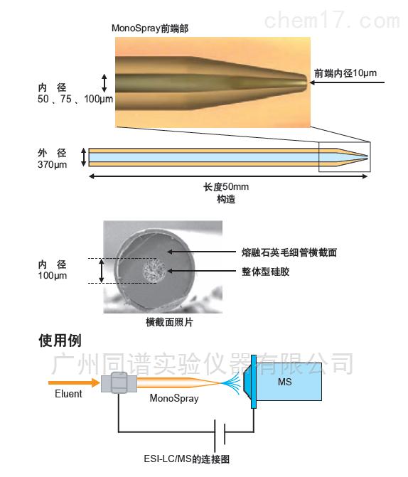 Shimadzu MonoSpray C18 岛津ESI纳米喷雾器