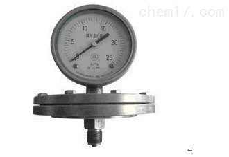 YP -100 B膜片压力表