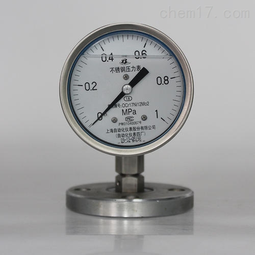 Y-100系列隔膜压力表
