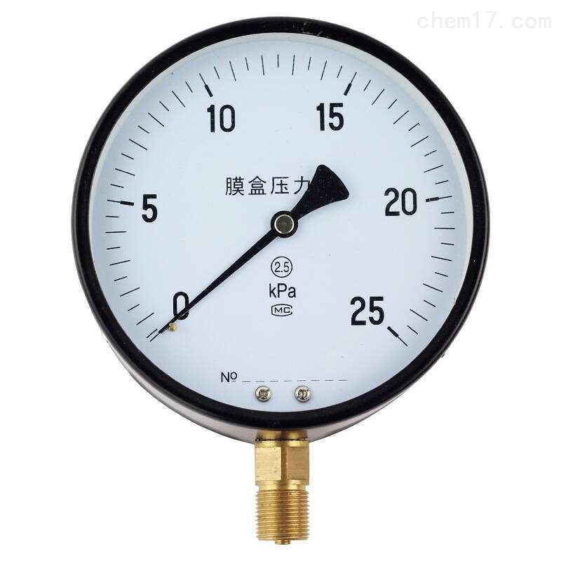 YE-100B膜盒压力表