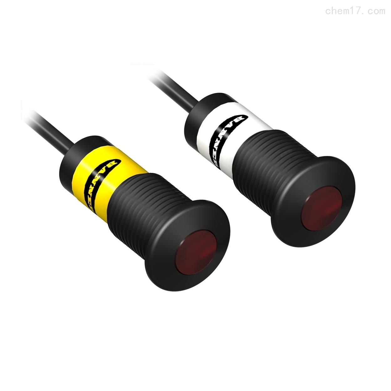 美国邦纳BANNER宽光束塑料外壳圆柱型传感器