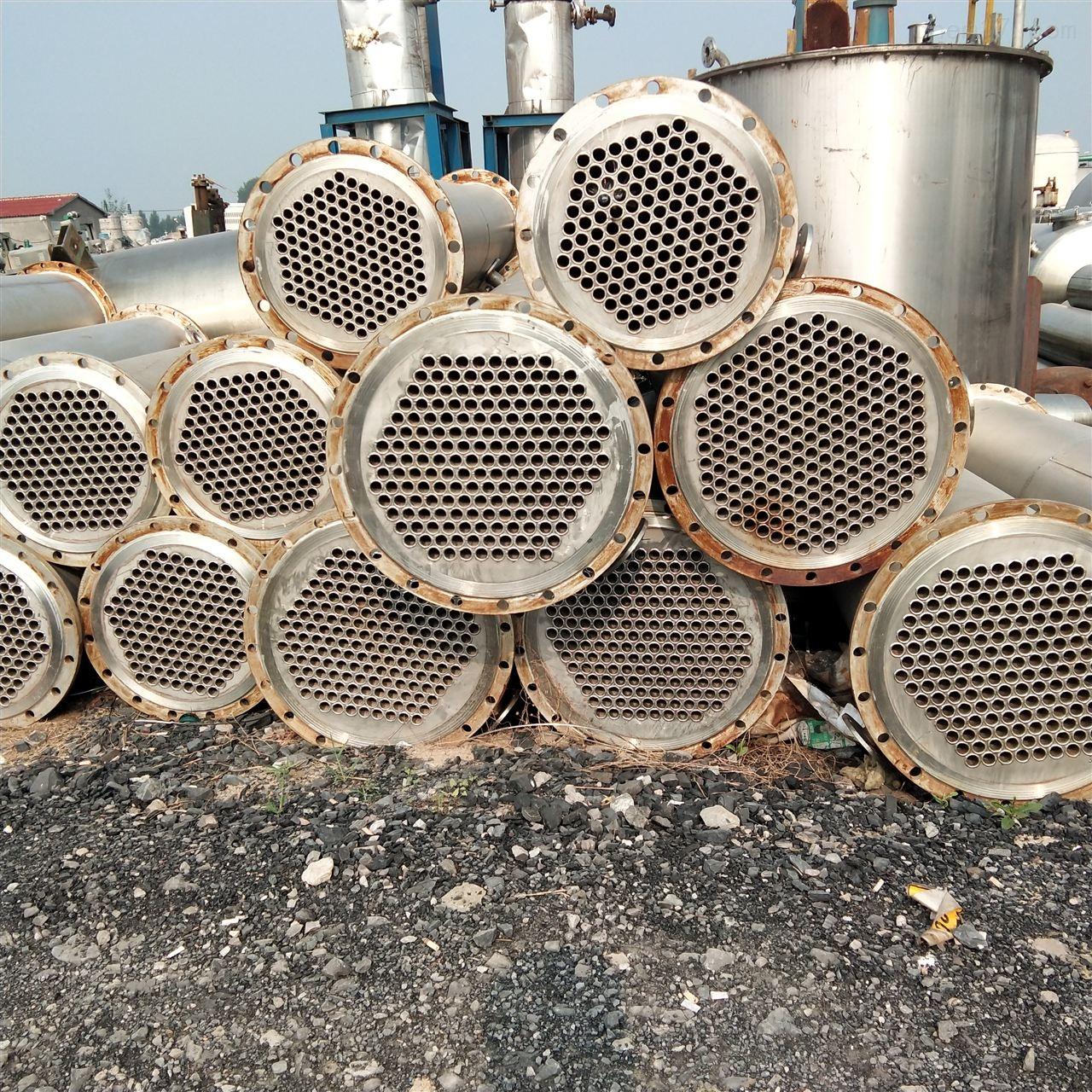 高价回收15平方不锈钢列管式冷凝器