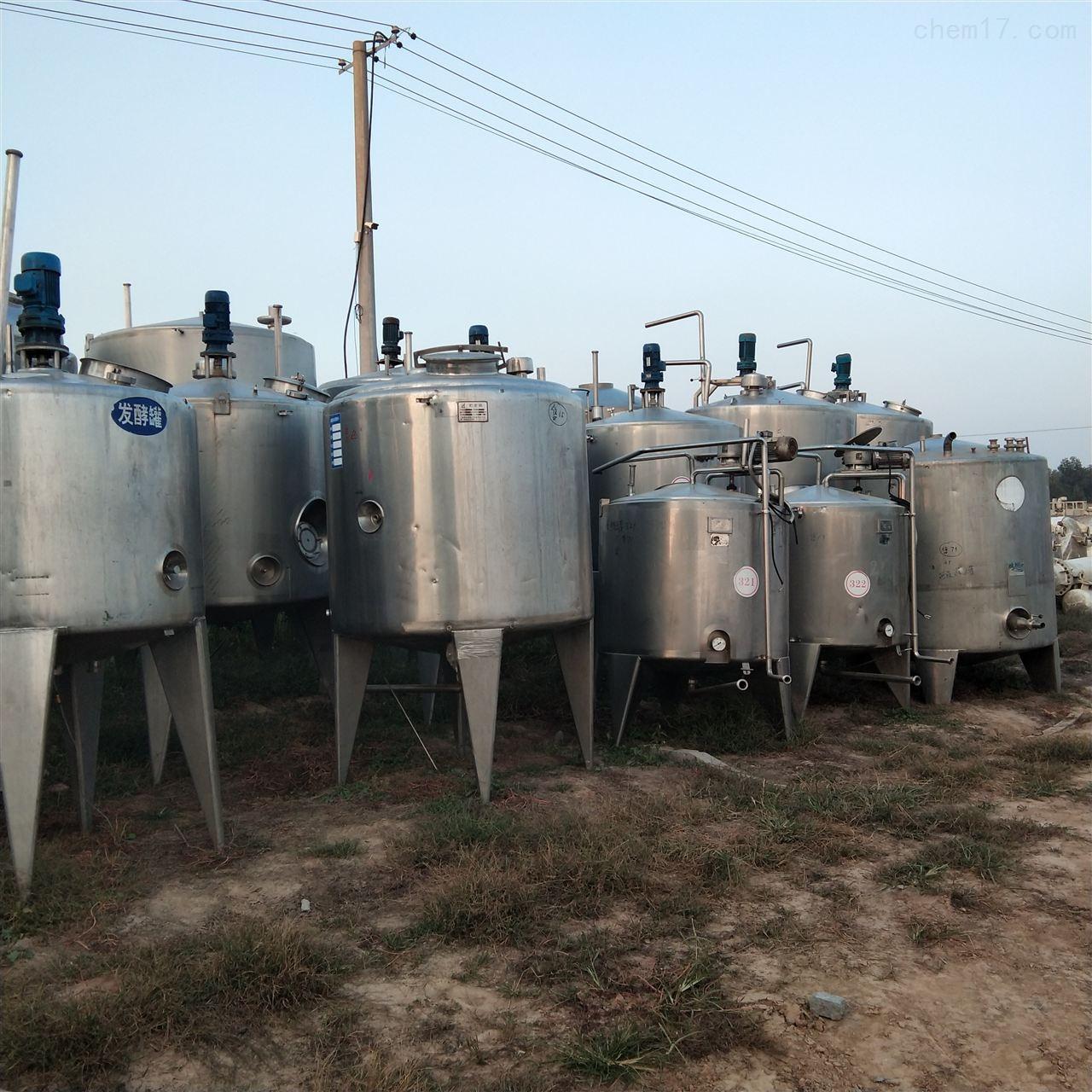 高价回收不锈钢发酵罐