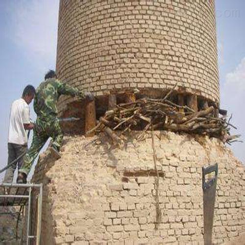 衡水市烟囱拆除烟筒人工拆除施工——烟囱