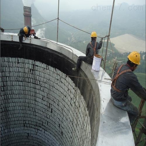 百色市烟囱内壁玻璃钢防腐(7布9油)施工