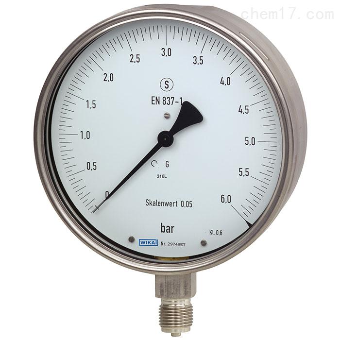德国WIKA威卡不锈钢材质检测压力表