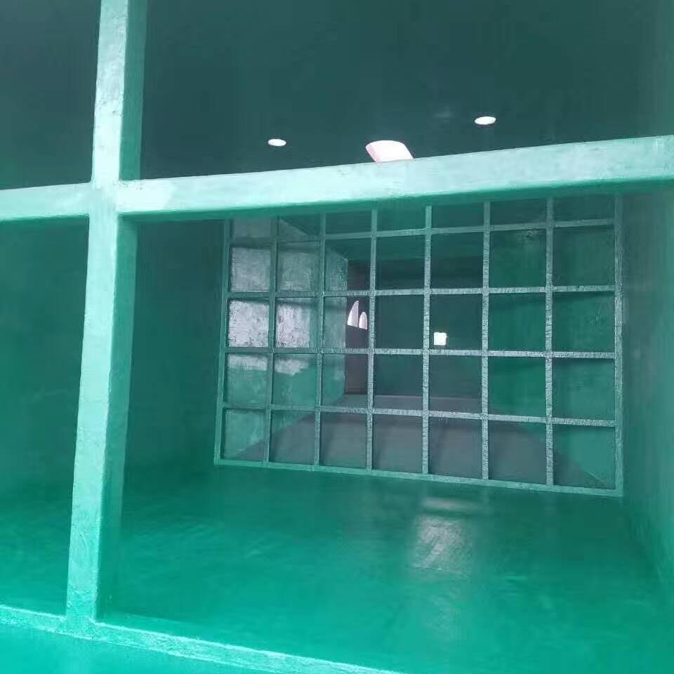 脱硫塔烟道玻璃鳞片防腐工程