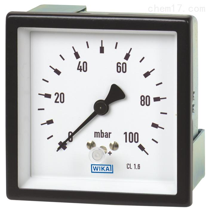 德国威卡WIKA膜盒式压力表