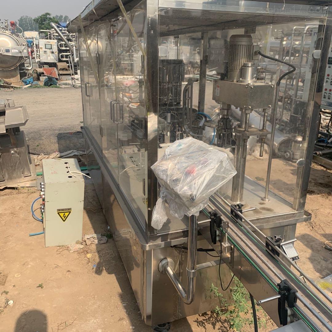 长期回收二手六泵液体灌装压盖一体机