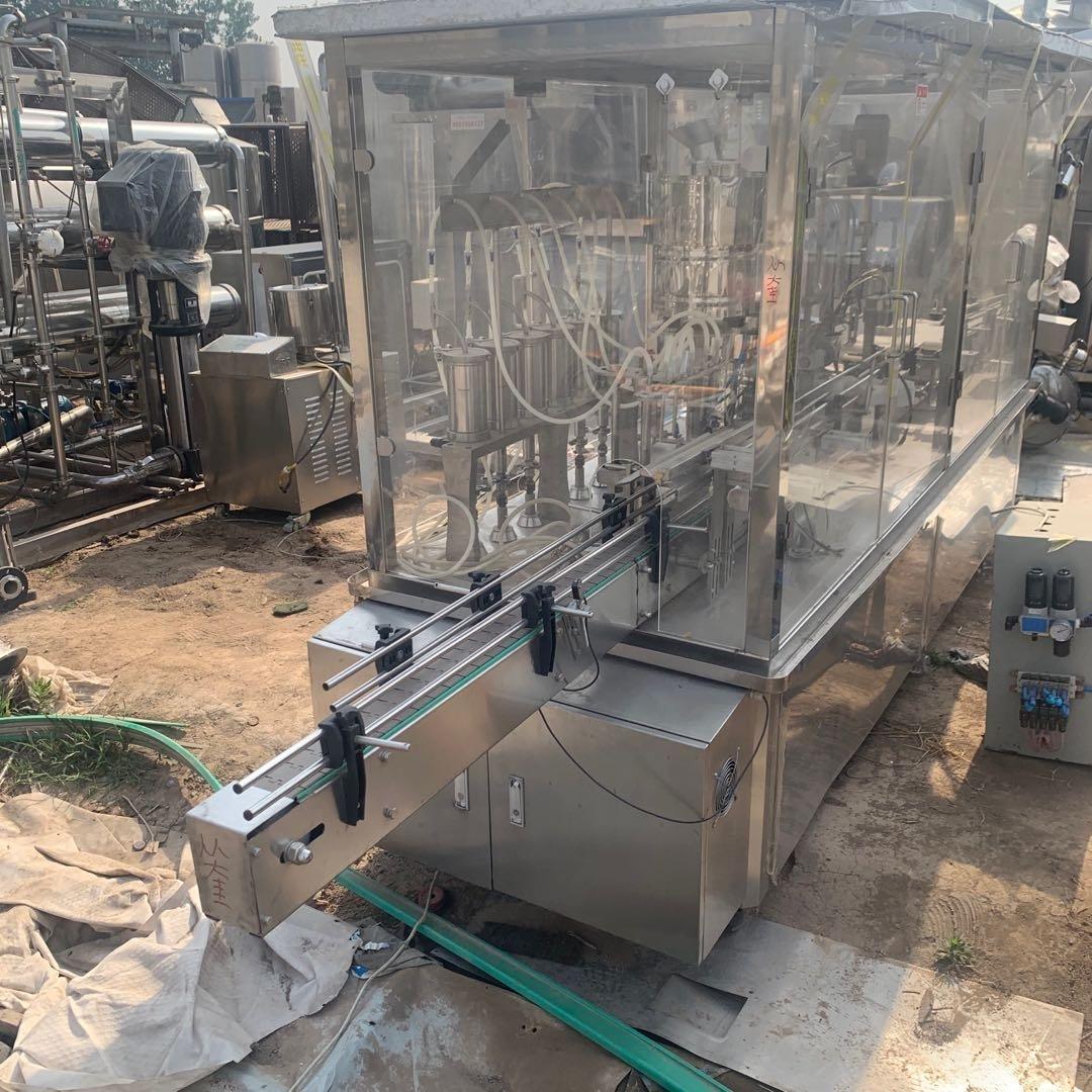 二手六泵液体灌装压盖一体机