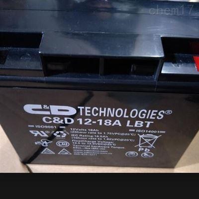C&D12-18 LBT 12V18AH西恩迪蓄电池 12-18 LBT 12V18AH UPS专用