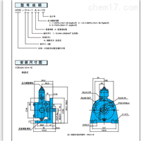 NACHI VDC系列變量葉片泵安裝尺寸圖