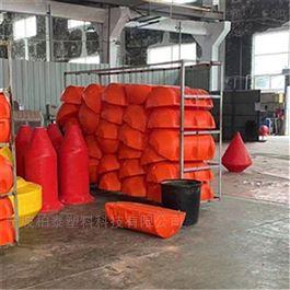 FT700*800塑料喷字警示拦截拦污截流浮力带浮筒