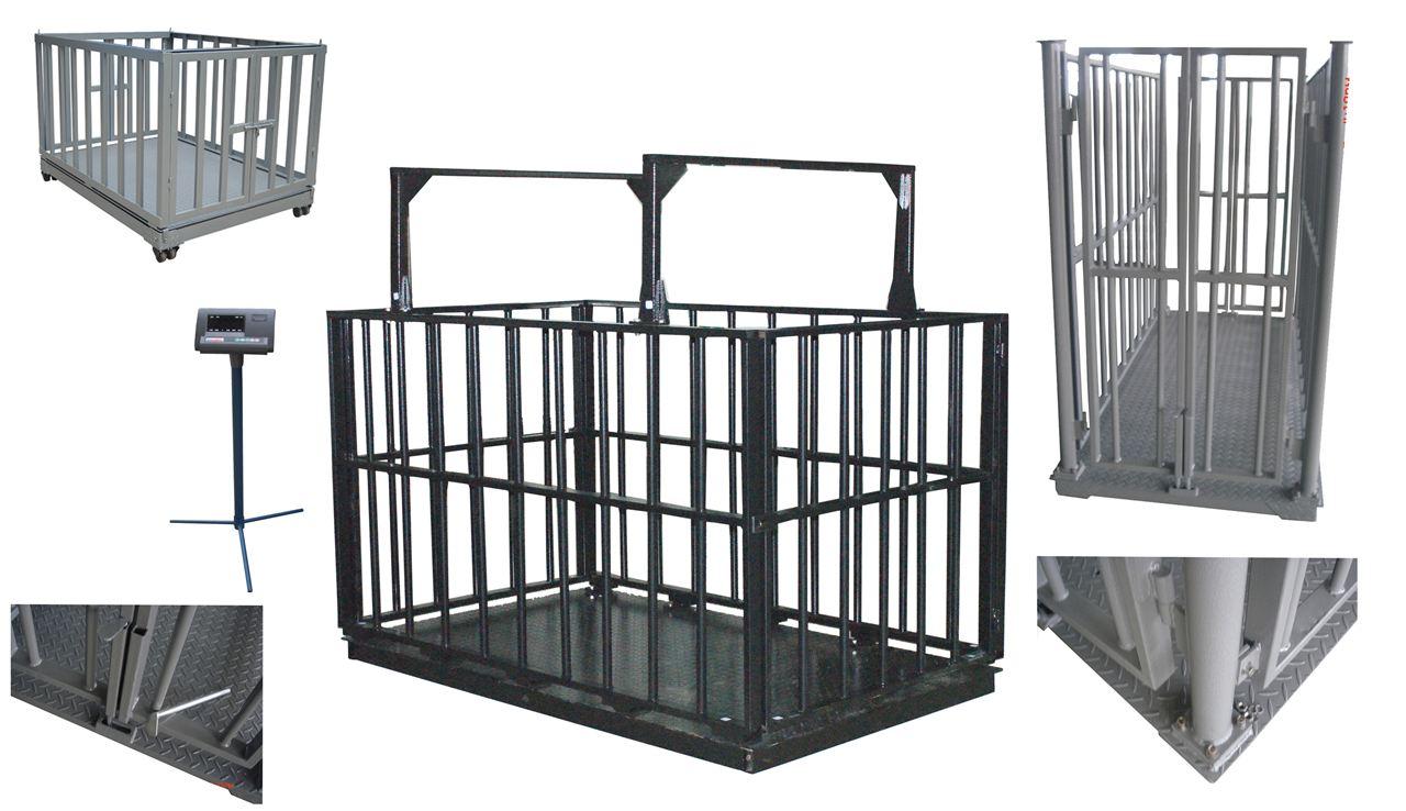 <strong>屠宰场养殖场电子秤带围栏牲畜地磅</strong>