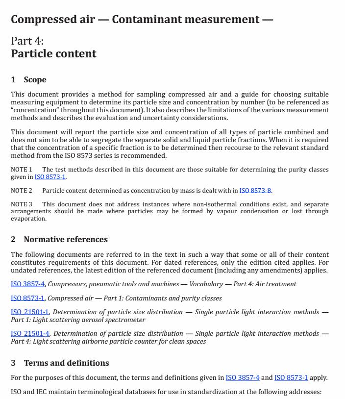 ISO8573-4:2019压缩空气颗粒物检测方法英文截图