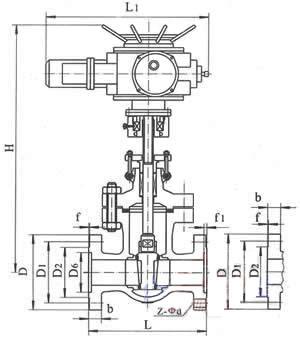 电动闸阀结构图