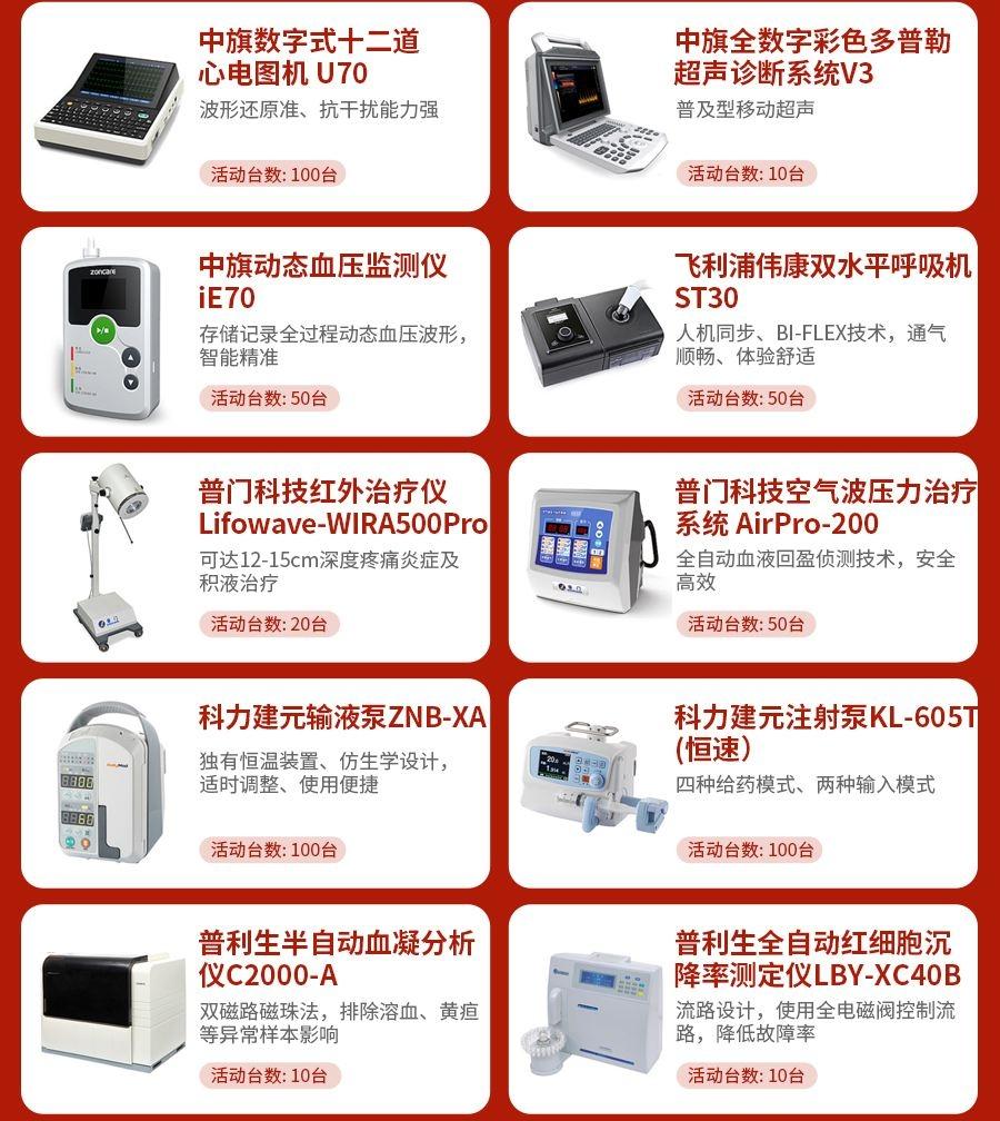 618医疗器械狂欢采购活动产品
